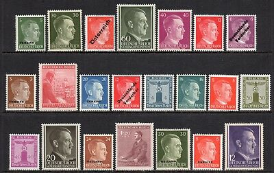 GERMANY 3rd REICH / Adolf Hitler / Eagle & Swastika - 20 Different MNH Stamps