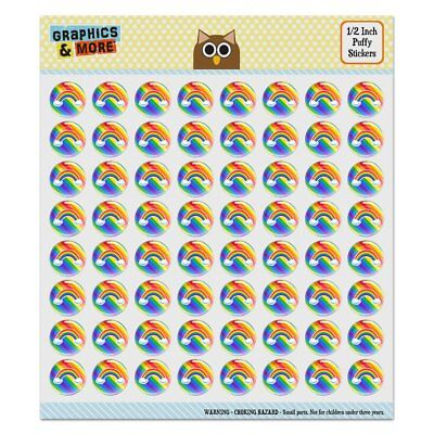 Double Rainbow with Clouds Puffy Bubble Dome Scrapbooking Crafting Sticker Set