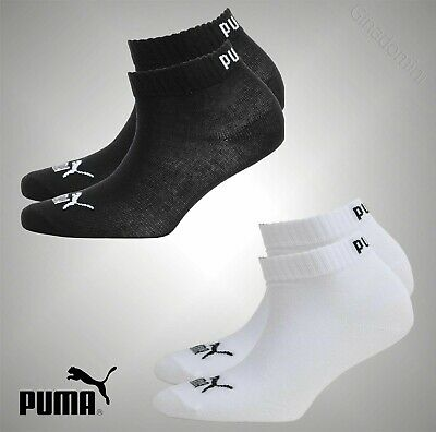 2 Pack Kids Boys Puma Knitted Logo Basic Quarter Socks Sizes UK 9-5