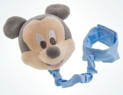 Disney Parks Mickey Mouse Pacifier Clip Plush New with Card