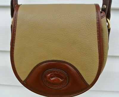 Dooney & Bourke Taupe Cavalry saddle shoulder crossbody