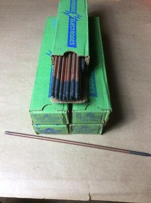 Lot of (235) Linde 1/4 X 12 Pointed Copperclad Gouging Electrodes DC.  CC. NEW