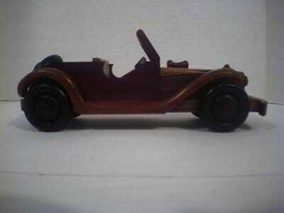 Vintage Wooden Handmade Antique Classical Car Toy Old Model Vehicle