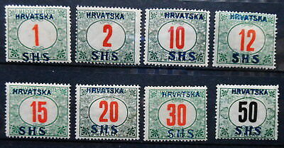 Yugoslavia - Shs Issues For Croatia Porto 1918 Mi: 27 - 34 Mh