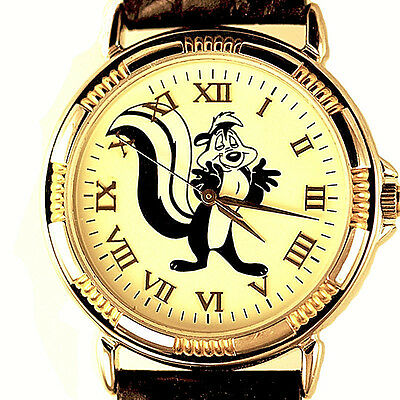 """Pepe Le Pew """"Passion Always"""" Unworn Rare Fossil Warner Bros Watch Collection $95"""