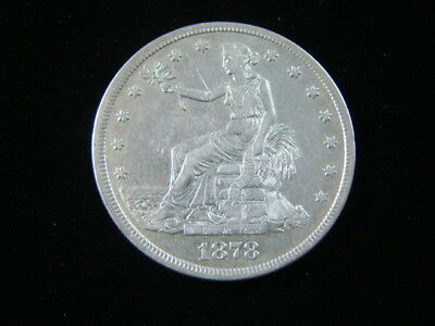 1878-S Trade Silver Dollar Extremely Fine Nice!!