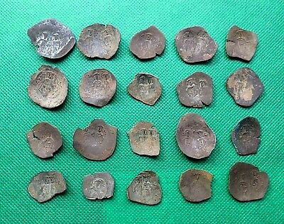 Lot Of 20 Ancient Byzantine Bronze Cup Coins.