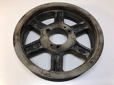 Large Antique Industrial Age Machine Cast Iron Fly Wheel Belt Pulley Steampunk