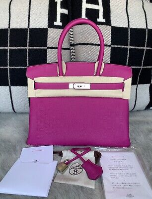100% Authentic BRAND NEW Hermes Birkin 30 Veau Togo L3 Rose Pourpre W  PHW 4bca09dbbe226