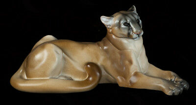 "Windstone Editions ""tan "" Cougar, Cat, Feline,animal Statue"