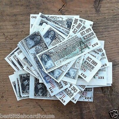 50 Assorted Original RAILROAD TRAIN BOND Coupons Various Lot NOS unused