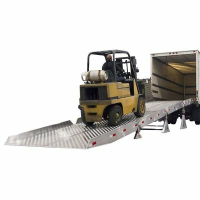 """Portable Aluminum Yard Ramp System with 6"""" Safety Guard Rails"""