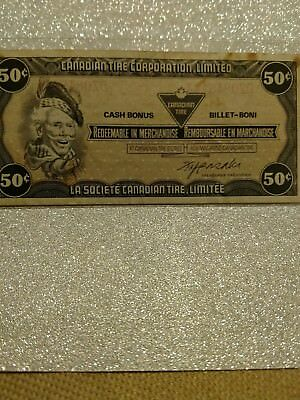 Old nice CTC Canadian Tire  50 cents   note coupon !