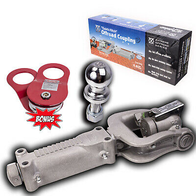 Ark Xo 3.5T Off Road Trailer Hitch Coupling Caravan Camper Trailer + Warn Snatch