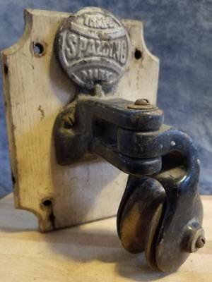 19th Century Gymnasium Weight Lifting Pulley Late 1800 Antique Gym Spaulding