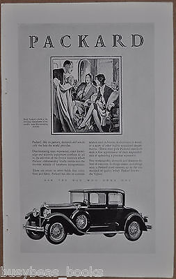1929 Packard advertisement, PACKARD Coupe, discriminating clientele