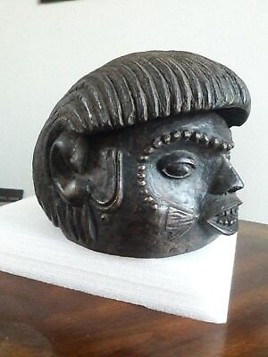 African art-Colonial helmet mask from the Tiv people of Nigeria