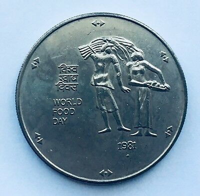 1981 India 100 Rupees Coin - World Food Day