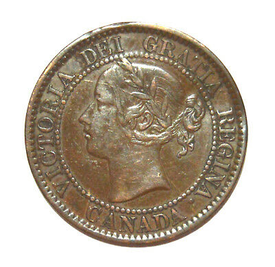 SCARCE 1858 CANADA LARGE CENT - GREAT DETAIL, BUT..... - .99c START - NO RESERVE