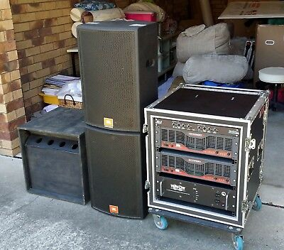 PA System - JBL, Crown, DBX with Roadcase