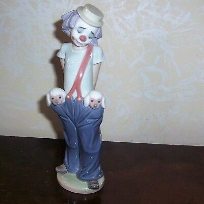 Lladro #7600 Little Pals Clown With Dogs 1985 Collectors Society