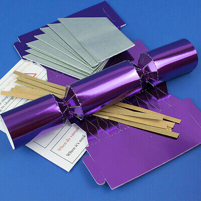 Purple Foil Make & Fill Your Own Cracker Making Craft Kits, Boards & Accessories