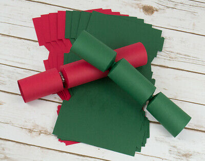 12 Christmas Red & Green Make & Fill Your Own Cracker Boards