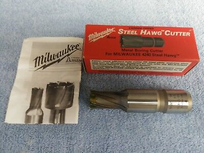 "Milwaukee 3/4"" Steel Hawg Cutter Metal Boring 49-57-0751 Carbide Tipped 4240"