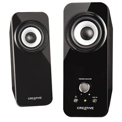 Creative Inspire T12 2.0 Speaker System - 18 W RMS - Black