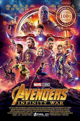 New Avengers Infinity War Official Movie Original Cinema Print Premium Poster
