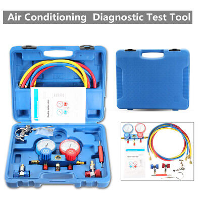 R12 R22 R134a 410a R404z Air AC Refrigeration Kit A/C Manifold Gauge Set