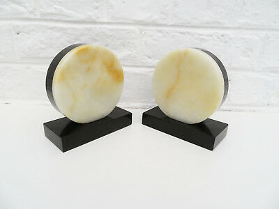 Art Deco marble bookends, french bookends Bookshelf decor Desk Accessory library