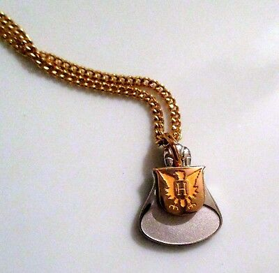 Vtg EMPLOYEE SERVICE AWARD Pendant Charm Necklace CTO ~ Halle's Higbee's? OH