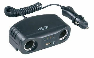 TWIN 12V MULTISOCKET WITH USB Automotive RMS7 PACK 1