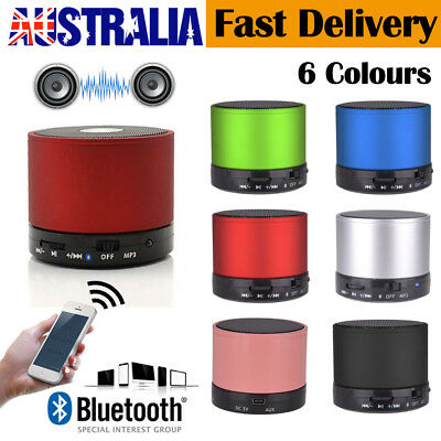 Portable Mini Wireless Stereo Bluetooth Speaker FM Led USB For iPhone iPad PC