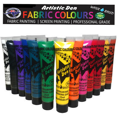 Fabric Paint 13 x 15ml Textile Fabric Fabric Paint Set  Paint  Artistic Den **