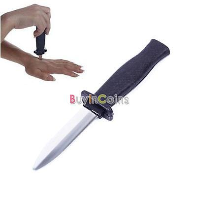 Plastic Knife Retractable Scary Trick Toy Prank Props Dagger Party Joke OZ#03
