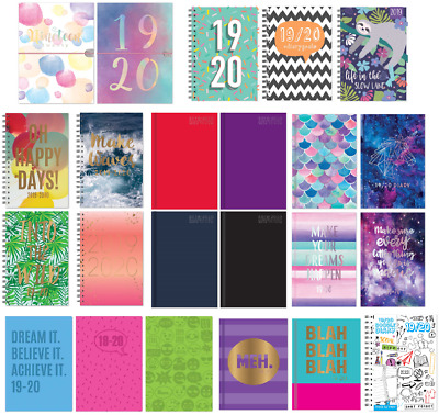 2018-2019 A4/a5 Day A Page Hardback/pvc Mid Year Academic Student/teacher Diary