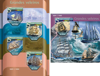 Sailing Ships Schiffe Boats Water Transport Sao Tome and Principe MNH stamp set