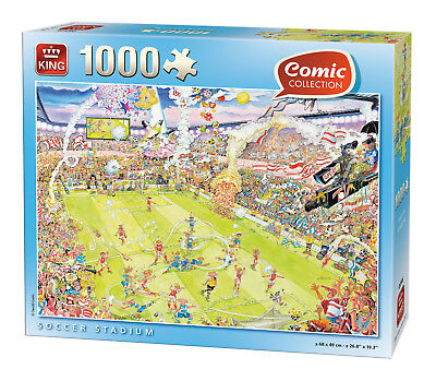 1000 Piece Funny Comic Jigsaw Puzzle Soccer Stadium Crazy Football Ground 05546
