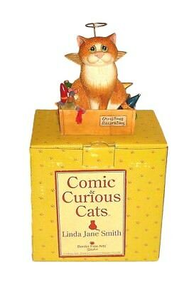 Comic and Curious Cats Rare Figurine ANGEL FACE A6039  Mint New in Box Free Ship