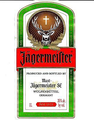 Jagermeister Bottle Labels