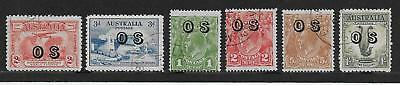 Australia  Sel.of Used Officials  Sg 0123/4, 0129/30, 0132 & 0136   Fine Used
