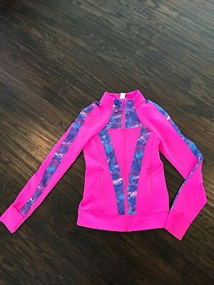 Ivivva Hot Pink Perfect Your Practice Jacket Size 12