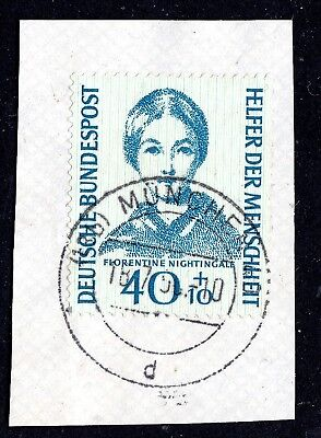 Germany - 1955 Sg1151 Used On Piece Nh**