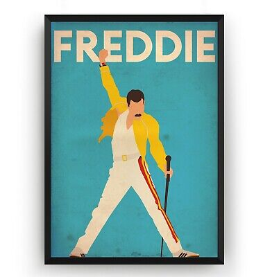 Freddie Mercury Poster - Queen Poster - Art Print Music Room Gift - Unframed