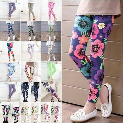 Kids Children Girls Leggings Autumn/Spring Soft Full Length Leggings Age 2-14 Y