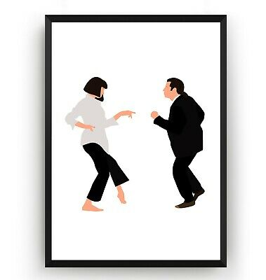 Pulp Fiction Poster - Wall Art Print Decor TV Show Movie Room Gift - Unframed