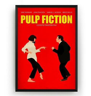 Pulp Fiction Poster - Wall Art Print Decor TV Show Movie Vintage Gift - Unframed