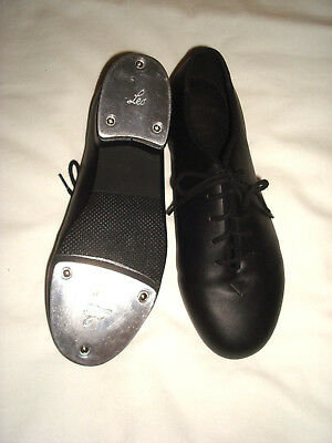Leo's Jazz Tap Shoes Black Non Leather Size 6.5M